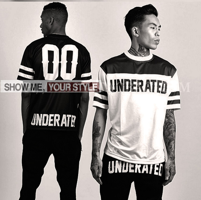 Fashion brand underated leather baseball  pyrex casual  T shirt hiphop skateboard streetwear plus size s to XXXL