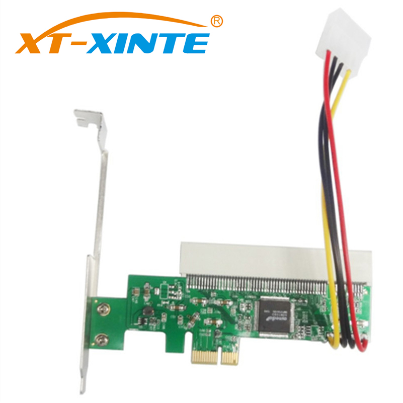 XT-XINTE LPE1083 PCI-Express To PCI Adapter Card PCI-E X1/X4/X8/X16 Slot With 4Pin Power Cable Card Green Q00440