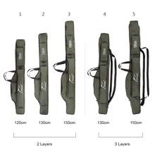 120cm 130cm 150cm Canvas Fishing Bags Foldable Fishing Rod Carrier Fishing Pole Tools Storage Bag Case Large Capacity Pesca Bag