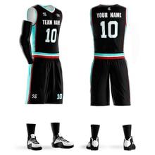 Men's Youth Custom Basketball jerseys sets same star #00 custom jerseys DIY Team Basketball Sets 6XL Black Green цена 2017