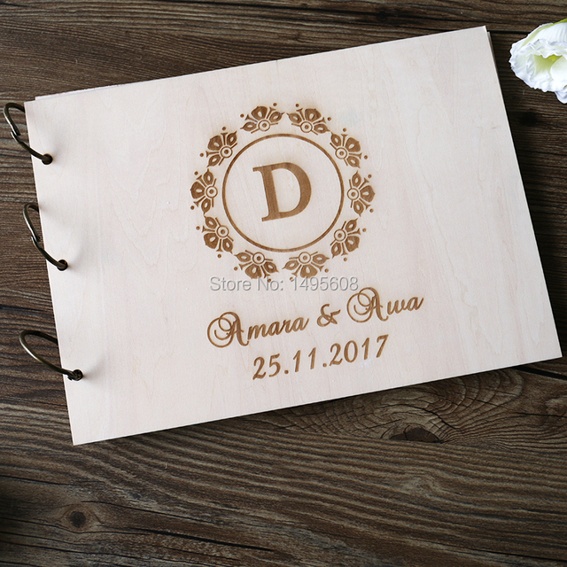 Guest Book ideas Rustic Wedding Guest book Wood Custom Engraved - guest books wedding