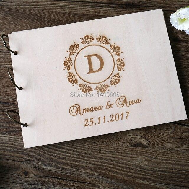 Guest Book ideas Rustic Wedding Guest book Wood Custom Engraved ...