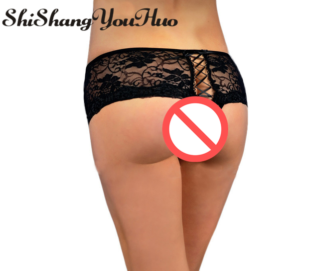 cfb7dc05e646 shishangyouhuo Sexy Women Lingerie G String Thong Briefs Underwear Panty T  Back Lace Big Plus Size M-6XL P5011