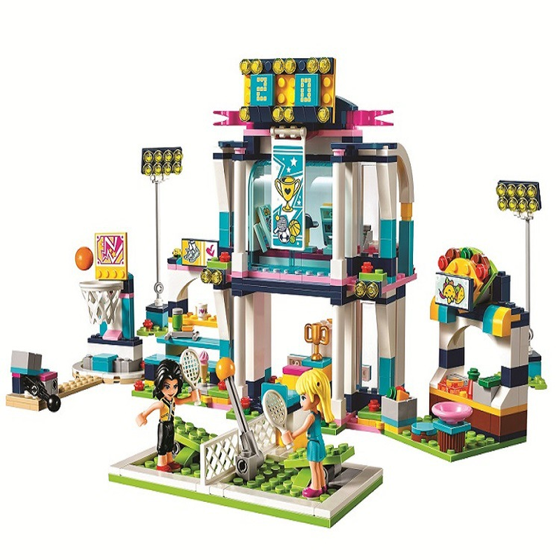Bela 10857 Friends Series Stephanie's Sports Arena Model Building Block Bricks Compatible With Legoings Friends 41338