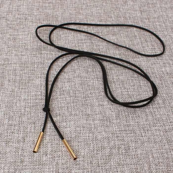 2018 Moana Overwatch Горячее кожаное ожерелье элегантные модные длинные веревки Collier Femme труба ложное крученое ожерелье воротник для женщин