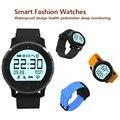 Moda de nova relógio inteligente F68 inteligente IP67 Sports Watch pulseira saudável heart rate parâmetro Monitor de sono IOS Android pulseira
