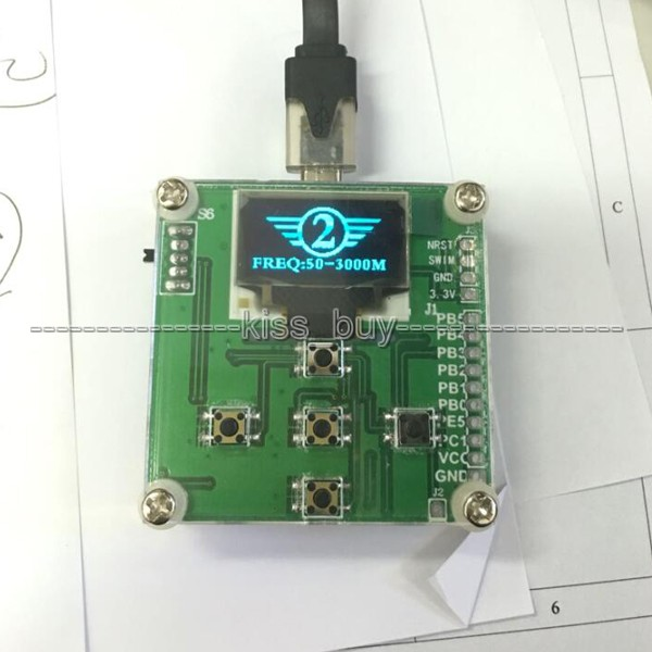 8GHz 1 8000Mhz OLED RF Power Meter 55 5 DBm Sofware RF Attenuation Value