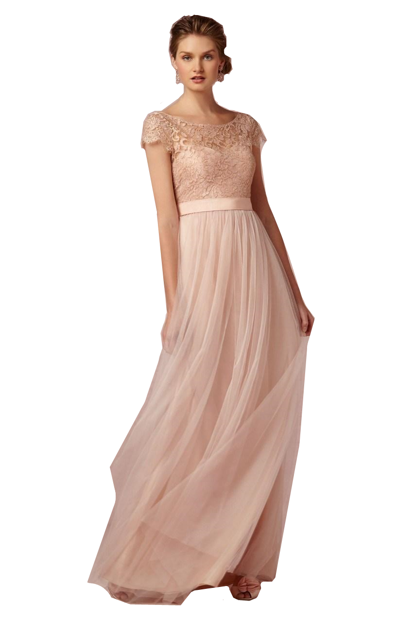 Vestido Para Madrinhas Pink Tulle   Bridesmaid     Dresses   2015 Short Sleeves Coral Lace A Line Robe Demoiselle D'honneur
