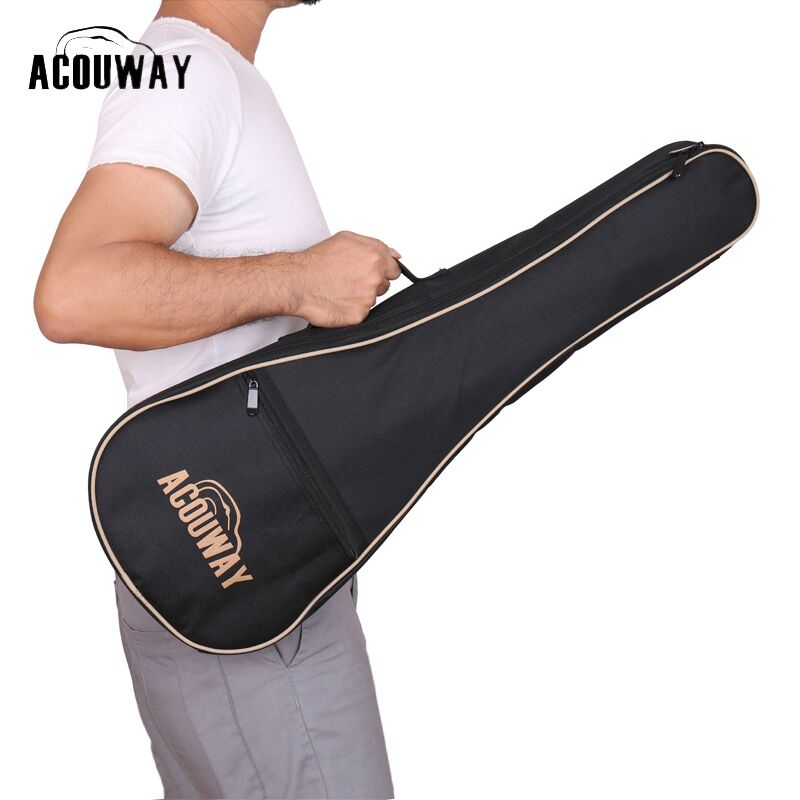 Acouway 28 inch Guitar Ukulele guitarlele Bag case With 10mm Cotton Padding/Canvas Hawaii Small Guitar Bag Ukulele Case guitar straps cotton belt for small guitar ukulele vertical stripes classic style 11 colors thicken 2016 new arrival best price