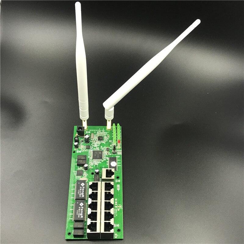 OEM10 port wireless router motherboard module custom screw hole metal shell broadband fast home kit 2.4G wireless module router