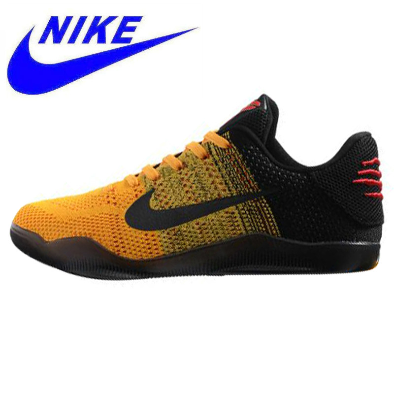 cheaper 13810 4c4cc Breathable Nike Kobe 11 Elite Low Bruce Lee Men s Basketball Shoes, Yellow    Black, Abrasion Resistant Non-Slip 822675 706