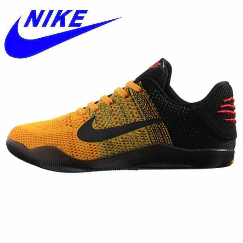huge selection of 6b30e eb5aa Breathable Nike Kobe 11 Elite Low Bruce Lee Men s Basketball Shoes, Yellow    Black,