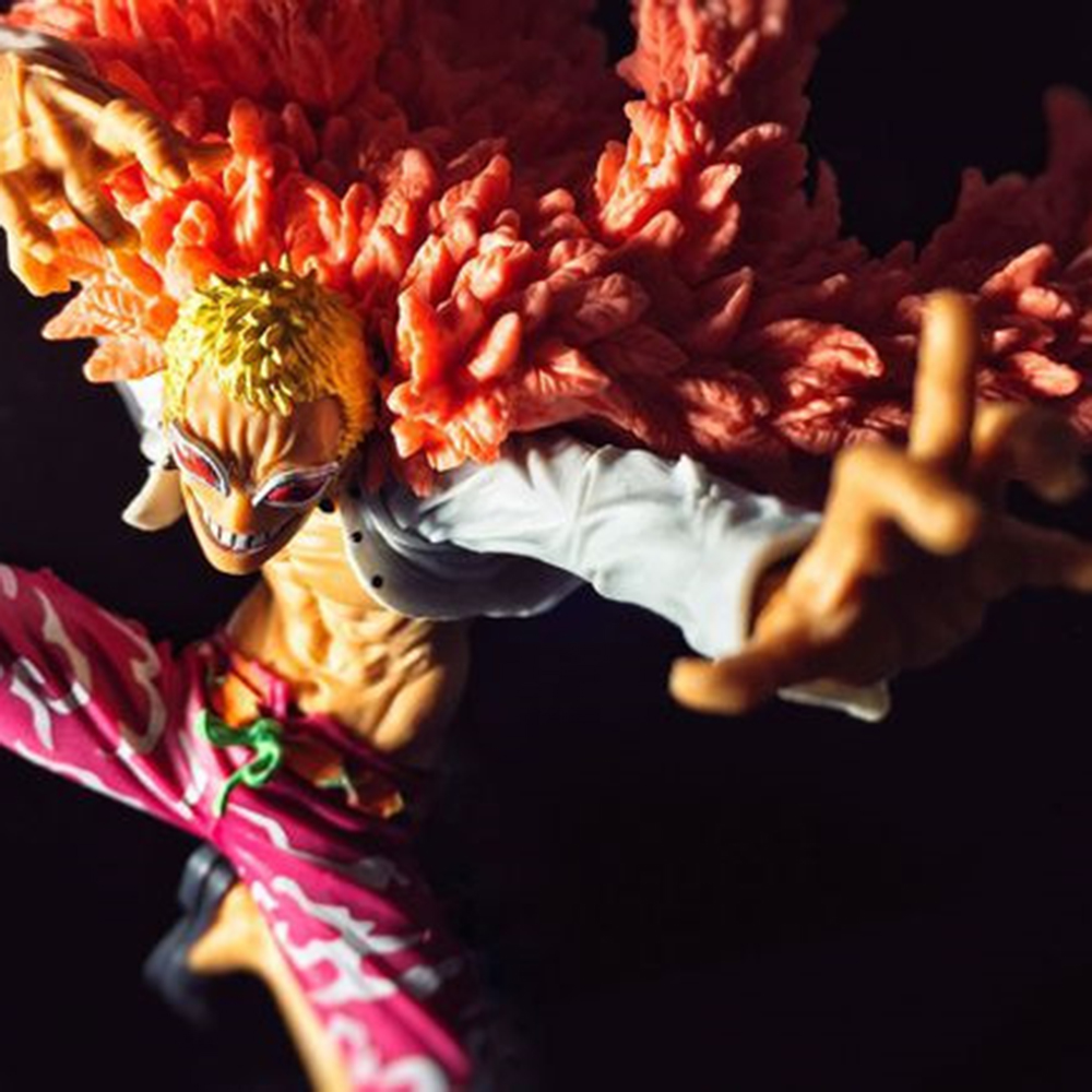 Love Thank You One Piece OP Donquixote Doflamingo Battle 20cm PVC Figure Toy Anime Collectibles hobbies Gift new Doll сабвуферы canton sub 10 3 white