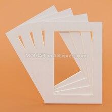 Белый/черный фото коврики прямоугольник/Овальный Бумага крепления уникальный фактурной поверхностью для 6/7/8 дюймов рамы для картин пасс-Partouts 6 шт./лот