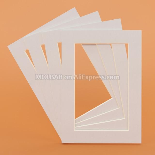 Whiteblack Photo Mats Rectangleoval Paper Mounts Unique Textured