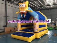 jungle commercial inflatable Combo, inflatable bouncy slide,inflatable bouncer