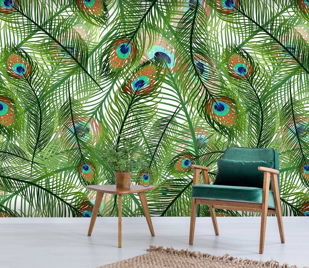 [Self-Adhesive] 3D Peacock Feathers 88 Wall Paper Mural Wall Print Decal Wall Murals