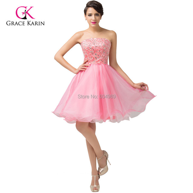 Princesa 2015 de color rosa Girls Sweetheart Short Prom bola vestido ...