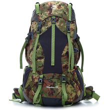 Jungle King 2017 new camouflage waterproof outdoor mountaineering bag large capacity long-distance travel package 65L camping