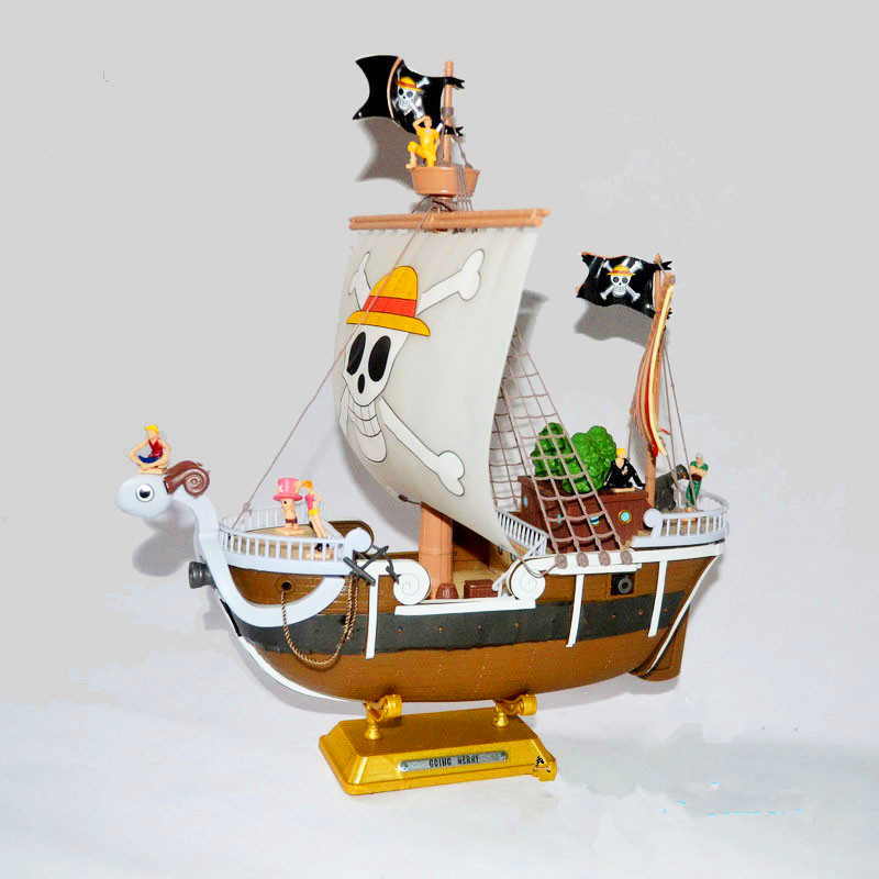 Anime One Piece Going Merry Ship  Model PVC Action Figure Collectible Toy 35CM anime dragon ball super saiyan 3 son gokou pvc action figure collectible model toy 18cm kt2841