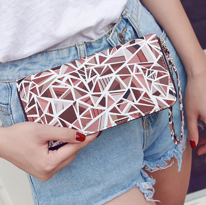 Ms diamond purse Fashion mobile phone package leisure pu leather large capacity hand bag Female zero wallet large capacity card id holders genuine leather package cluch bag new men s leather wallet fashion leisure leather wallet