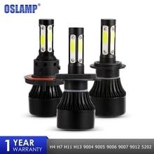 Oslamp 4 стороны светодиодный фар X7 100 Вт 10000LM H4 H7 H11 автомобиля светодиодный лампы 9005 9006 УДАРА фишек авто светодиодный лампы противотуманной 12 В 24 В