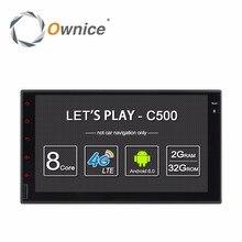 """Ownice """"1024 c500 android 6.0 2g ram 7*600 de la ayuda 4g lte sim red Radio Del Coche GPS 2 din reproductor de DVD Universal con la radio"""