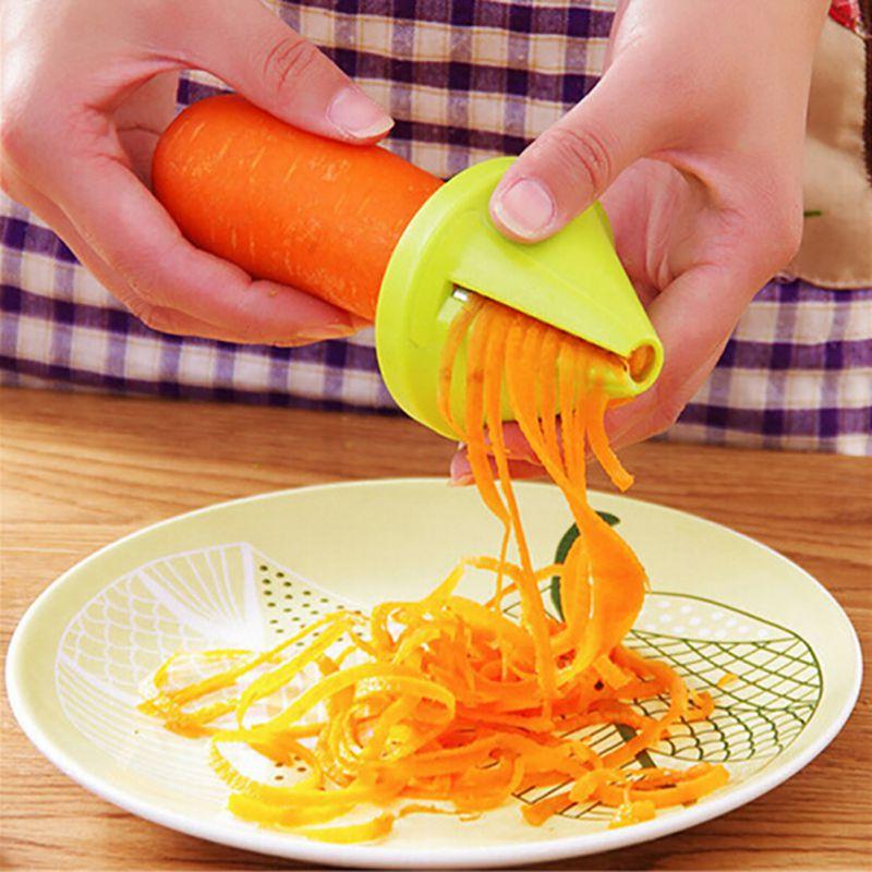 Dispositivo Pizca de verduras Espiral Slicer Zanahoria Rábano Cortador Herramien