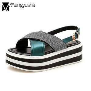 02d900af4d62 Mengyusha women platform wedges sandals female shoes summer