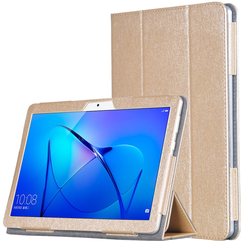 Slim Luxury Silk Grain Flip Stand PU Leather Case Cover For Huawei MediaPad M3 Lite 10 BAH-W09 BAH-AL00 10.1 inch Tablet + Gift smart ultra stand cover case for 2017 huawei mediapad m3 lite 10 tablet for bah w09 bah al00 10 tablet free gift