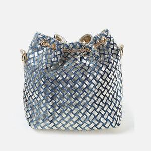 Image 4 - IPinee קיץ 2019 זהב שרשרת ג ינס תיקי לנשים מקרית בלינג ריינסטון ג ינס נשים כתף שקיות