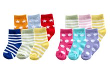 Newborns' and Kids' Soft Cute Socks 6 Pairs Set