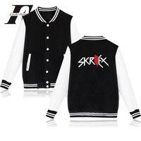 LUCKYFRIDAYF 2017 DJ Skrillex En Jack U Logo Mannen/Vrouwen Rock En Roll Punk Baseball Jacket Casual Warm Winter jas Streetwear