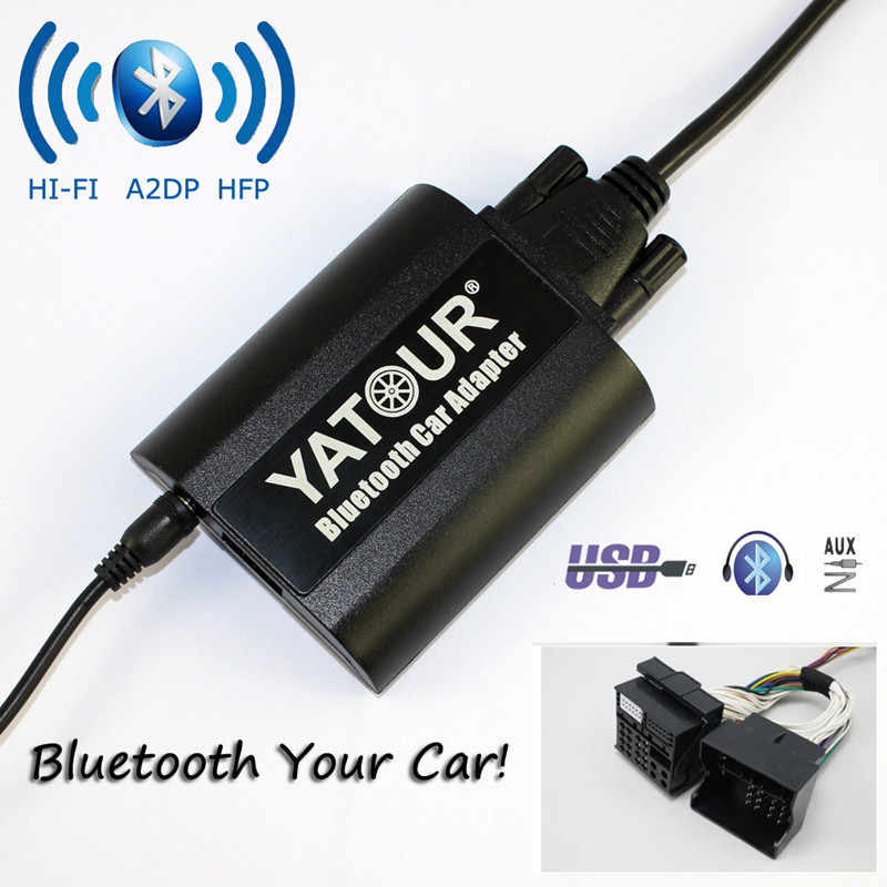 Newst Yatour Bluetooth מתאם לרכב עבור אופל Antara אסטרה H אסטרה J Corsa D קומבו B YT-BTA יד משלוח USB מטען HI-FI A2DP