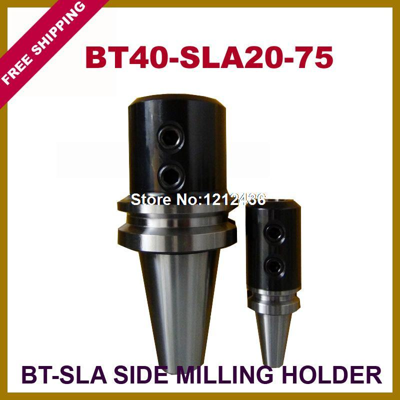 Free Shipping BT40-SLA20-75 Side Milling Toolholder System Working On CNC Milling Machine  bt40 sca22 70l circular saw blade cnc milling toolholder