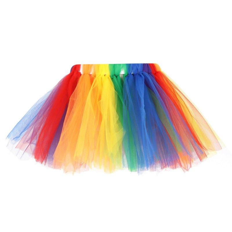 a6c813b99b 2016 Fluffy 3 Layer Summer Girls Rainbow Tutu Skirts Baby Kids Tulle Skirt  Children Baby Tutus Dancing Pettiskirt-in Skirts from Mother & Kids on ...