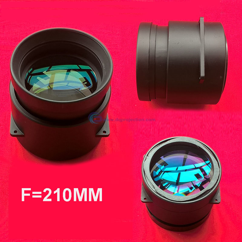 New LED Projector DIY Lens Focal Length F=210mm Projection Lens For 5.8 Inches Projectors LCD Made By 5pcs Large Diameter Lens