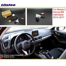 Para Mazda 3 Mazda3 Hatchback BM 2014 ~ 2017 RCA y Original pantalla Compatible Cámara de Visión Trasera/Copia de seguridad de Cámara de Marcha Atrás conjuntos
