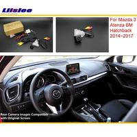 Liislee For Mazda 3 Mazda3 BM Hatchback 2014~2017 RCA & Original Screen Compatible Rear View Camera / Back Reverse Camera Sets