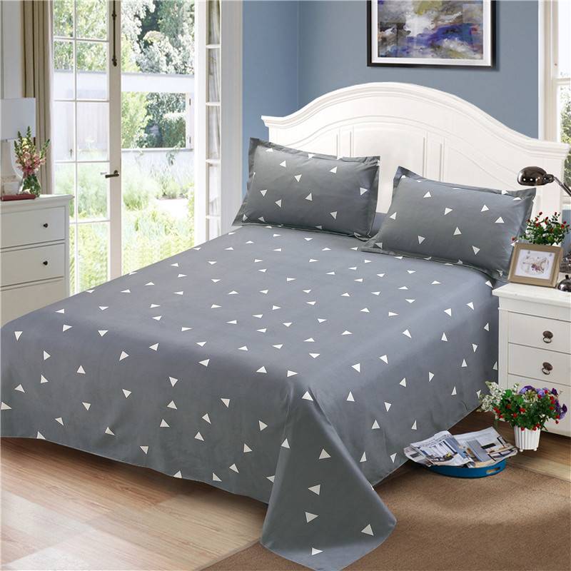 Geometric-Printing Bedding-Sets Flat-Sheet Double-Bed Pillowcase-Sets Kids Single