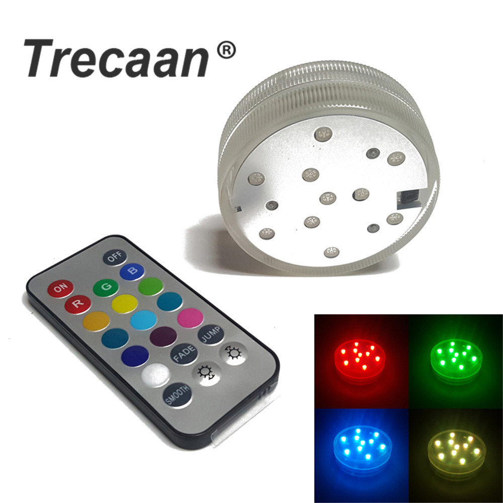Submersible LED Light RGB Multi Color Candle Waterproof Floral Light Wireless Remote Control For Wedding Party Decoration