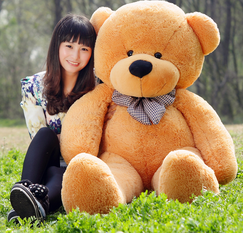 2017 hot sale light brown giant 180cm cute plush teddy bear huge soft toy in movies tv from. Black Bedroom Furniture Sets. Home Design Ideas