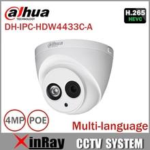 DaHua IPC-HDW4433C-A Actualizar desde IPC-HDW4431C-A IR Mini Domo de Red POE Cámara IP Con Una Función de Micro CCTV Cámara de $ number MP