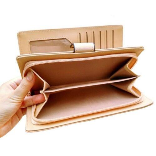 Women's PU Leather Long Wallet