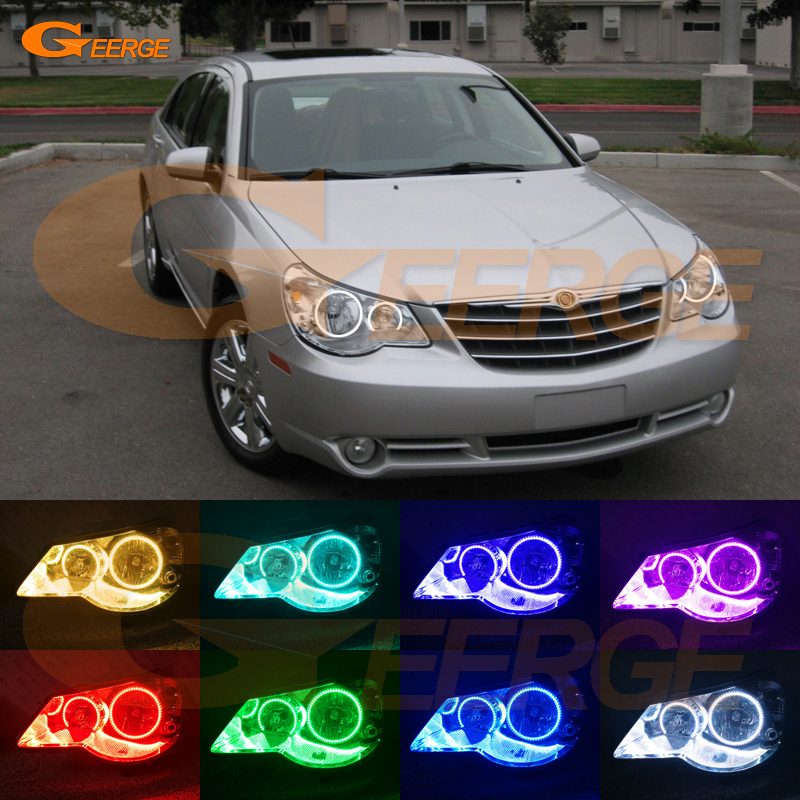 For Chrysler Sebring 2007 2008 2009 2010 Excellent Angel Eyes Multi-Color Ultra bright RGB LED Angel Eyes kit Halo Rings for lifan 620 solano 2008 2009 2010 2012 2013 2014 excellent angel eyes multi color ultra bright rgb led angel eyes kit