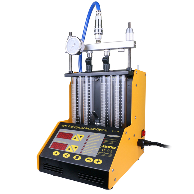 AUTOOL CT150 4 Cylinder Ultrasonic FUEL Injector Cleaner Tester English Panel Upgrade