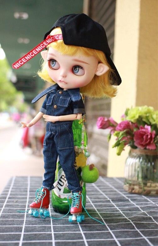 T02-x585 Blyth Doll Clothes 1/6 Dolls Azone Accessories Handmade Clothes Tiger Head Jumpsuit 1pcs Dolls & Stuffed Toys Toys & Hobbies