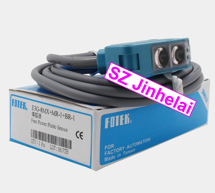 100% New and original FOTEK Photoelectric switch  E3G-8MX (E3G-8MX+MR-1+BR-1)   NPN 100% new and original fotek photoelectric switch mr 60x npn output