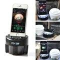 1 Pcs MP3 Speaker Music Player Rádio FM Transmissor Sem Fio Modulador carregador de carro com suporte do telefone para o iphone 5/6/6 6 s plus * E