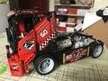 608 unids truck race car 2 en 1 modelo building block sets decool 3360 diy juguetes transformables compatible con leping